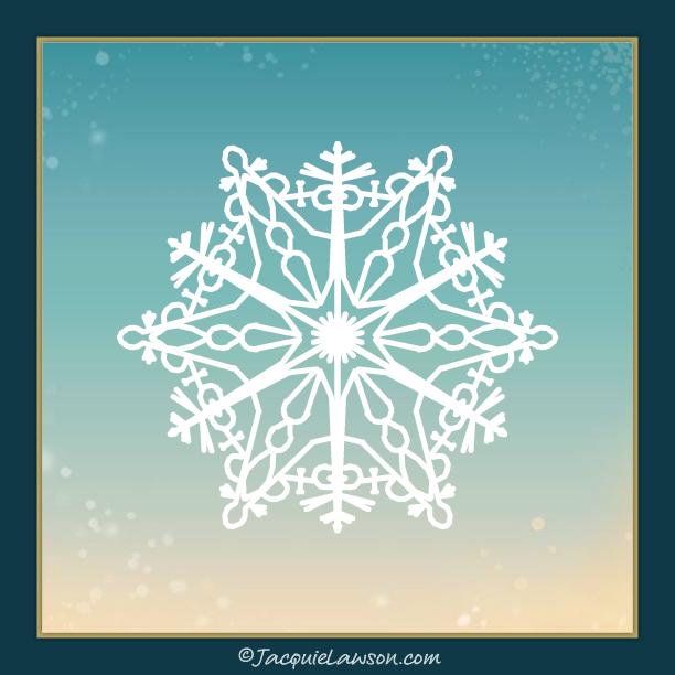SnowFlake_84 © JacquieLawson.com | #JLAdventCalendar #KBFNews