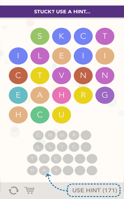 brain training game Word Bubbles