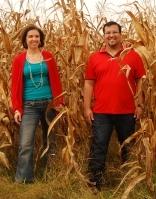 Jon and Erika at the Farm