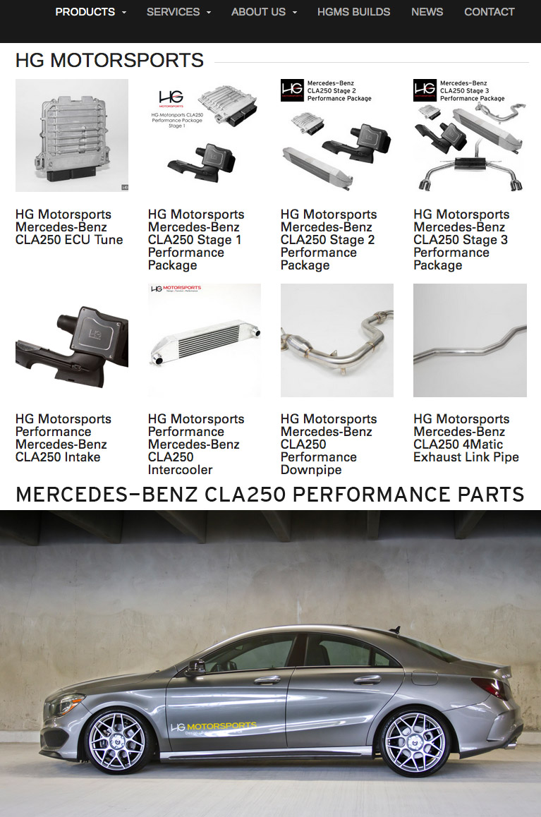 Mercedes-Benz CLA250 Performance Products