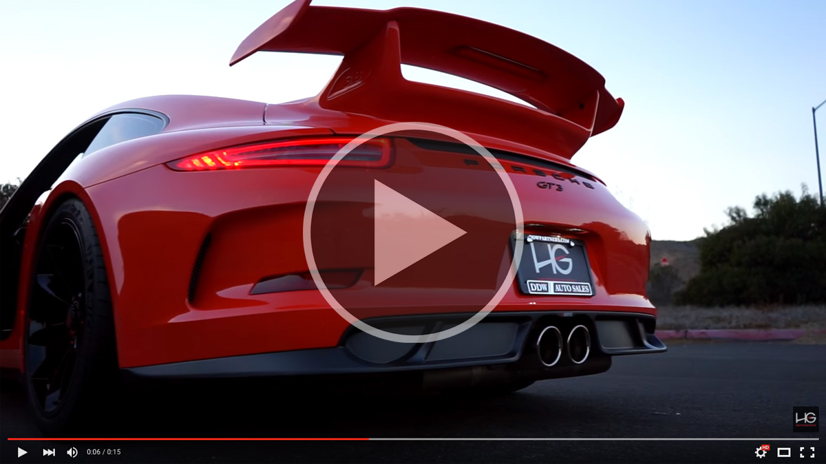 Porsche 991 GT3 Akrapovic Exhaust Video