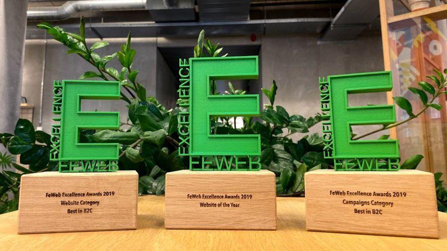 Wieni & Starring Jane schitteren op de 5de editie van de FeWeb Excellence Awards