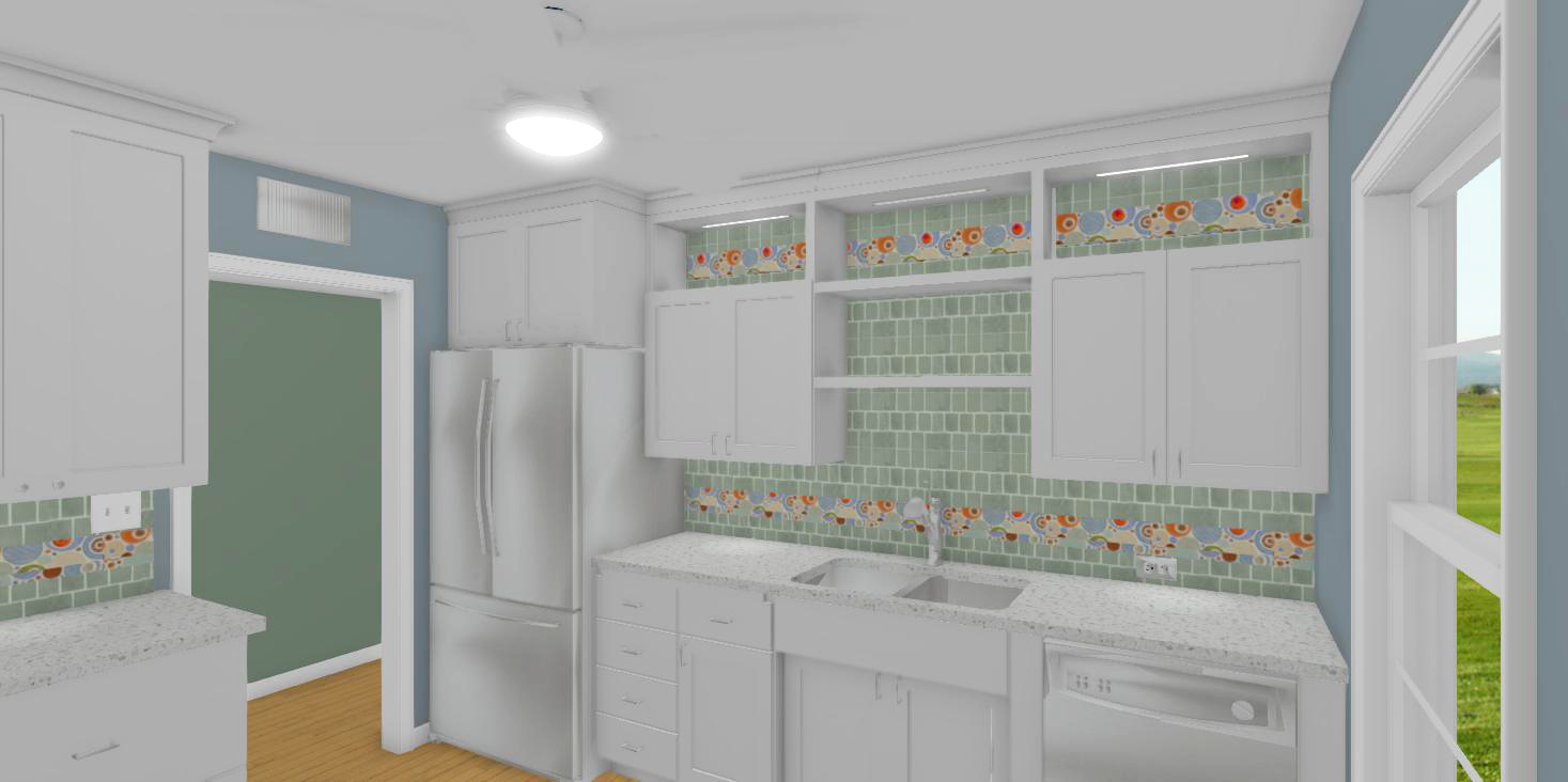 Mid-Century Modern Kitchen Project 1322-20 Rendering