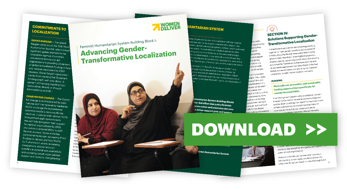 Feminist Humanitarian System Building Block Brief