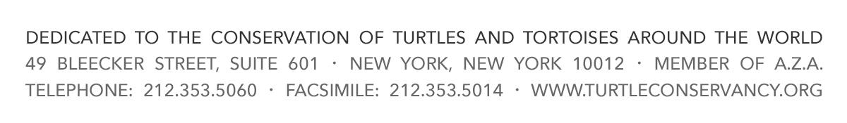 Turtle Conservancy, 49 Bleecker Street, Suite 601, New York, NY 10012, Telephone: 212-353-5060, www.turtleconservancy.org