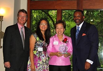 President Powers, Dr. Madeline Hsu, Dr. Foo Swasdee, and Dr. Vincent