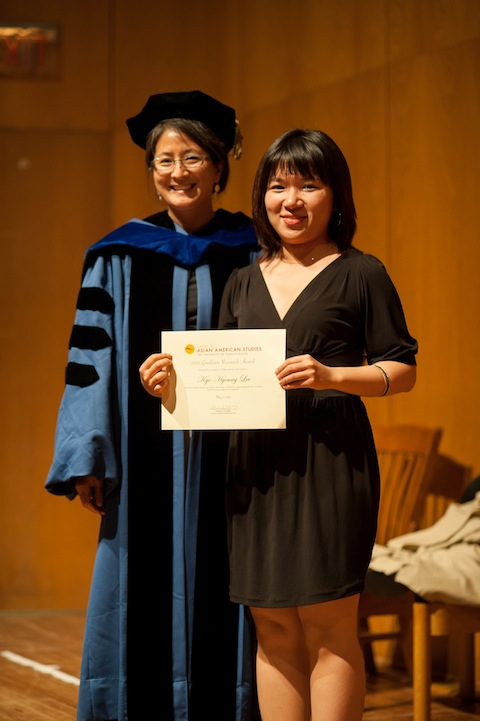 Director Madeline Hsu with Kye-Hyoung Lee, graduate student research awardee