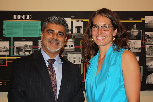 Ali Khataw with Prof. Amber Abbas at Oral History Reception