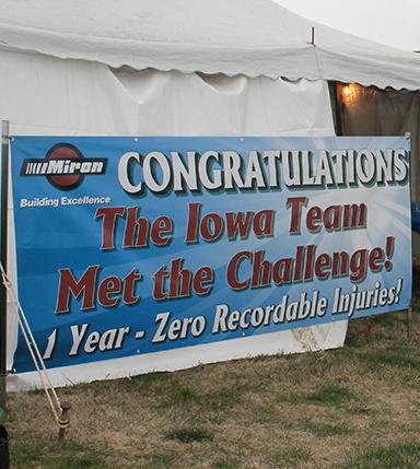 Iowa Safety Milestone Banner