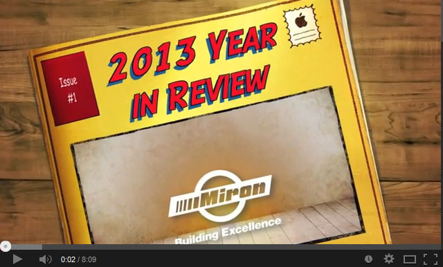 Miron 2013 Year in Review Video