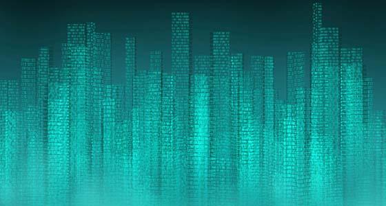 graphic of city skyline