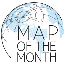 map of the month logo of globe