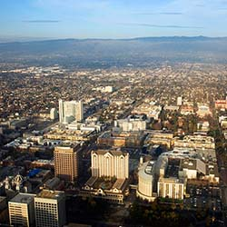 Aerial view of San Jose