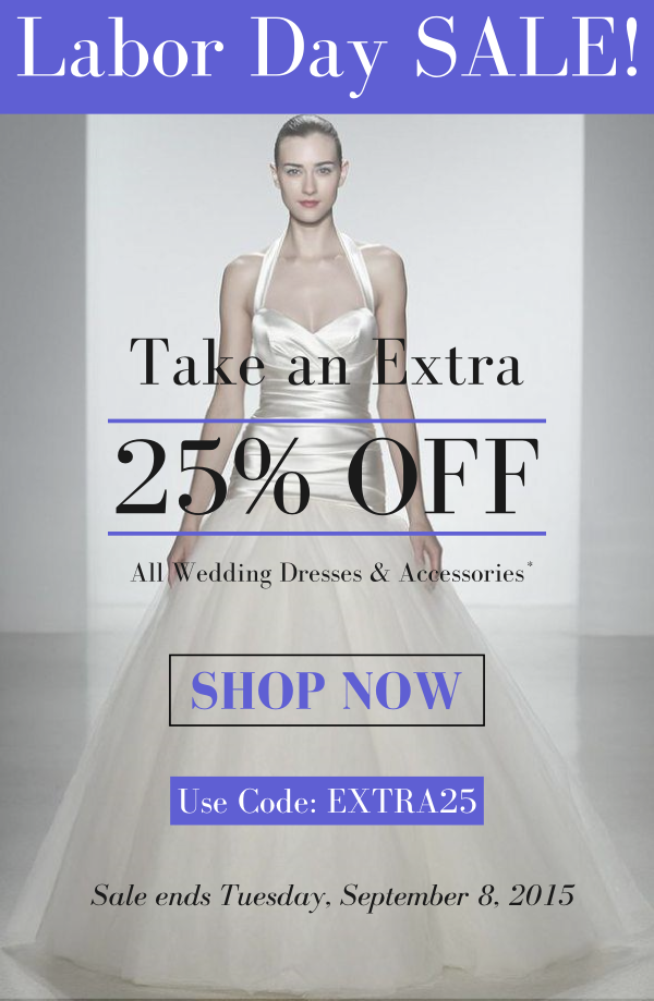 Designer Wedding Dresses & Accessories on SALE