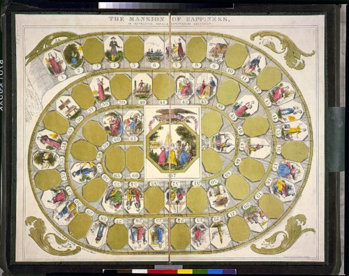 Mansion of Happiness game board