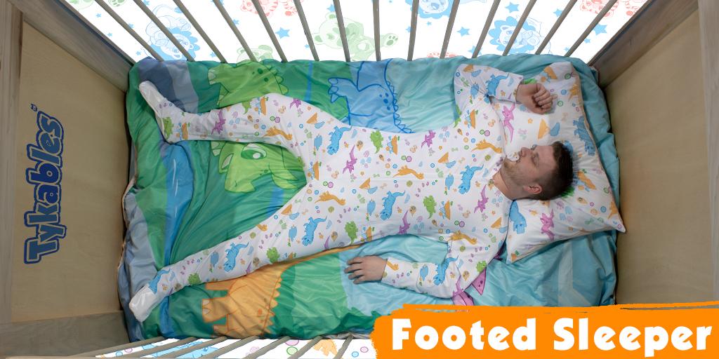 Tykables Little Rawrs Footed Sleeper