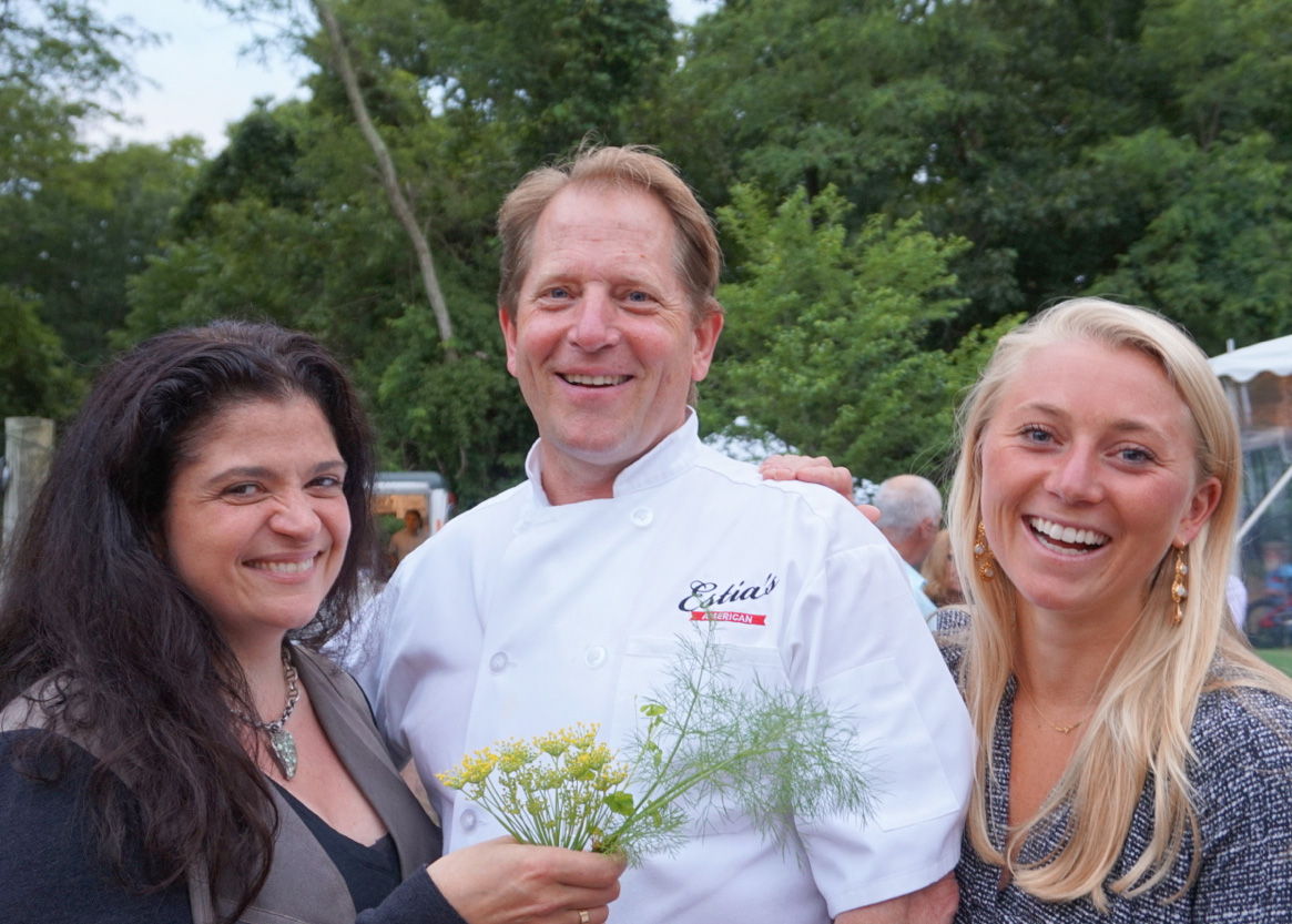 Alex Guarnaschelli and Colin Ambrose and his daughter Mansell