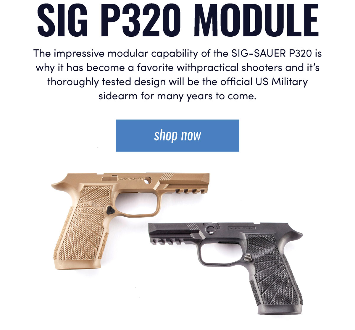 Sig P320 Module,The impressive modular capability of the SIG-SAUER P320 is why it has become a favorite withpractical shooters and it's thoroughly tested design will be the official US Military  sidearm for many years to come.