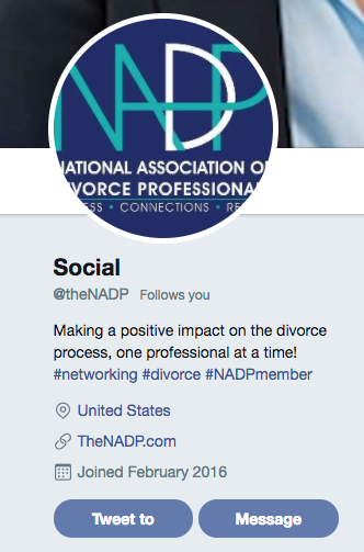 NADP Twitter Account
