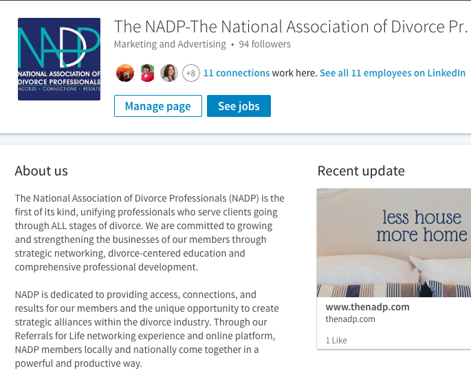 NADP LinkedIn Account