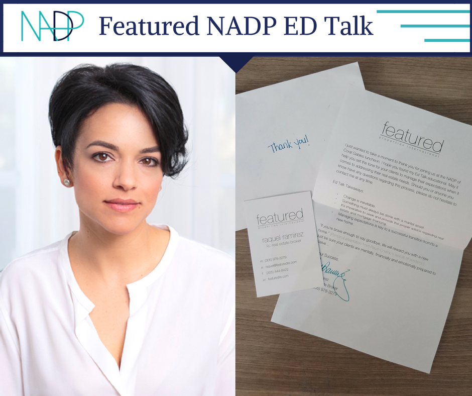 Raquel Ramirez Featured NADP ED Talk