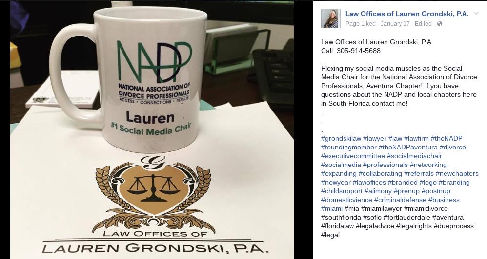 Lauren Grondski FB Post