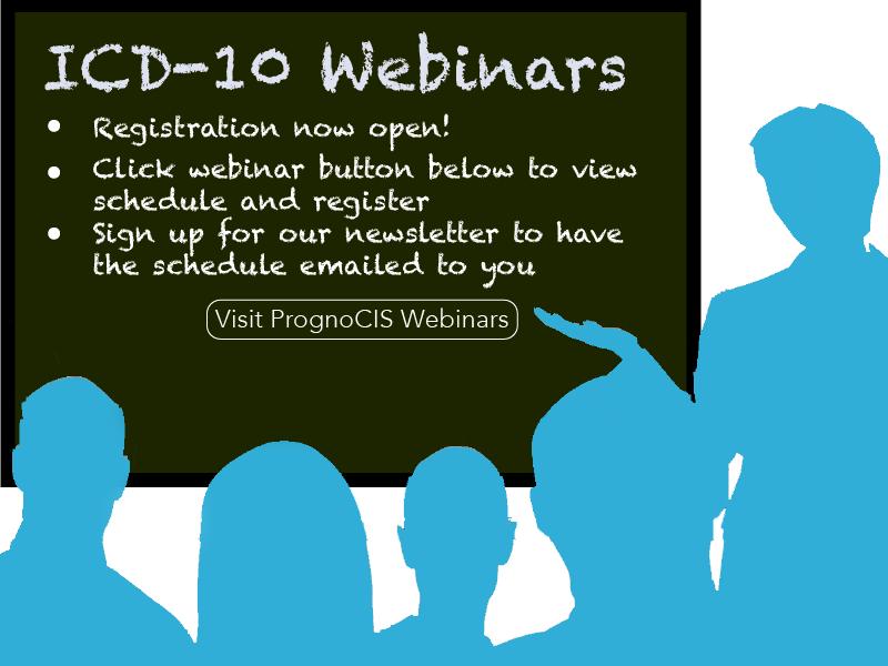 PrognoCIS ICD-10 Webinars