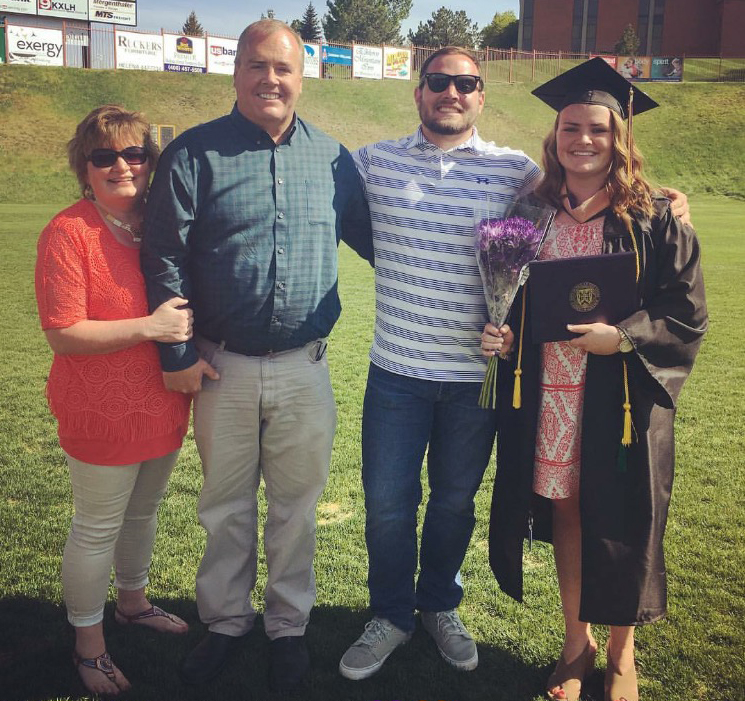 Carroll Student and Family at the 2016 Commencement