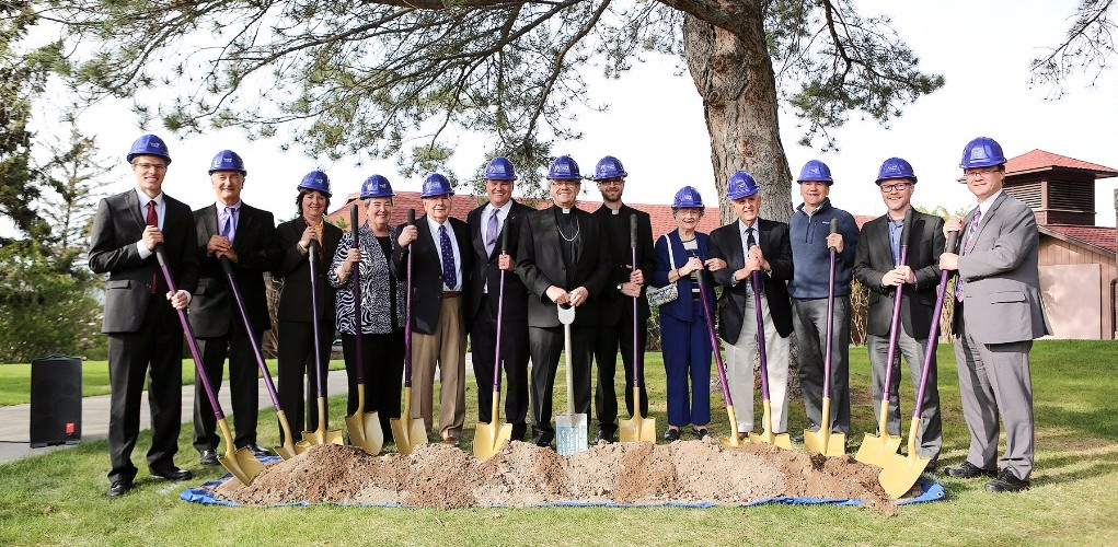 ceremonial groundbreaking for the new chapel