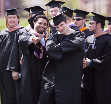 2016 Graduation Students posing for the camera