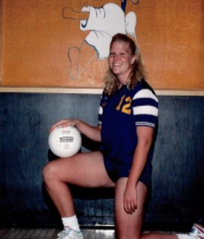 Volleyball Player Kneeling