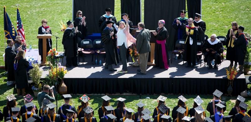 Graduation Ceremony outside