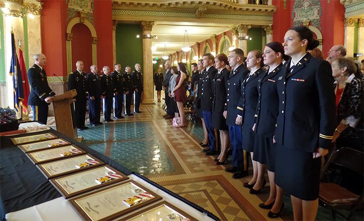 ROTC Program Students at the Capital