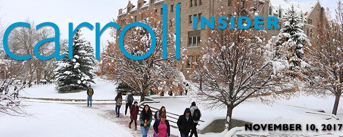 Snowy Carroll Campus Insider News Banner