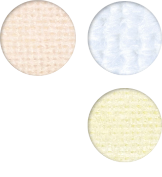 NOVA SCRUB wipes are available in white, yellow, and peach