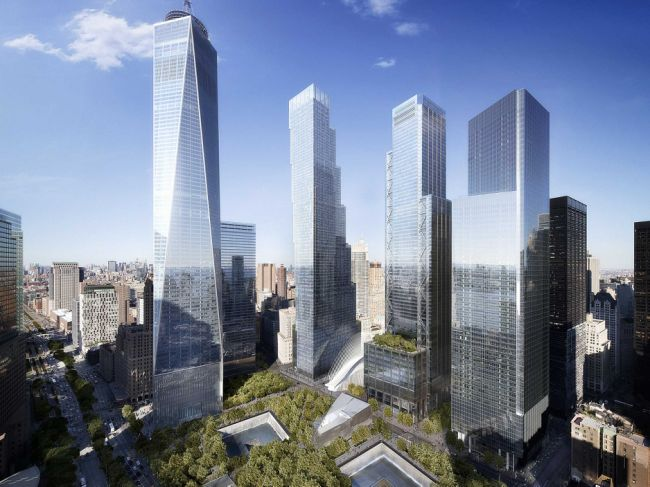 The new World Trade Center buildings