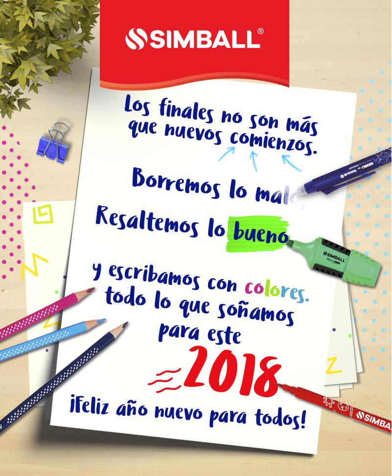 Escribamos con colores todo lo que soñamos para este 2018