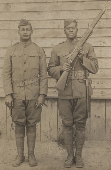 African American soldiers frm WWI