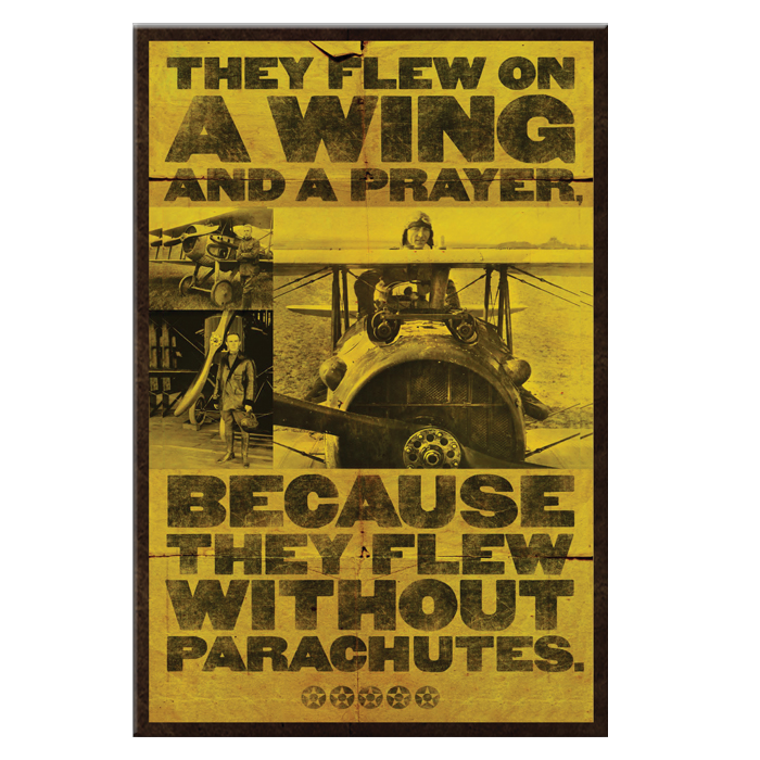 WWI Pilot Metal Sign