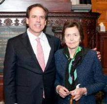 With my mother at my swearing in