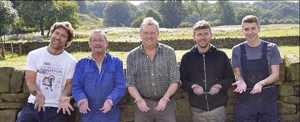 Andrew, Gerald, Nigel, Simon and Kieren at Bullhouse Mill