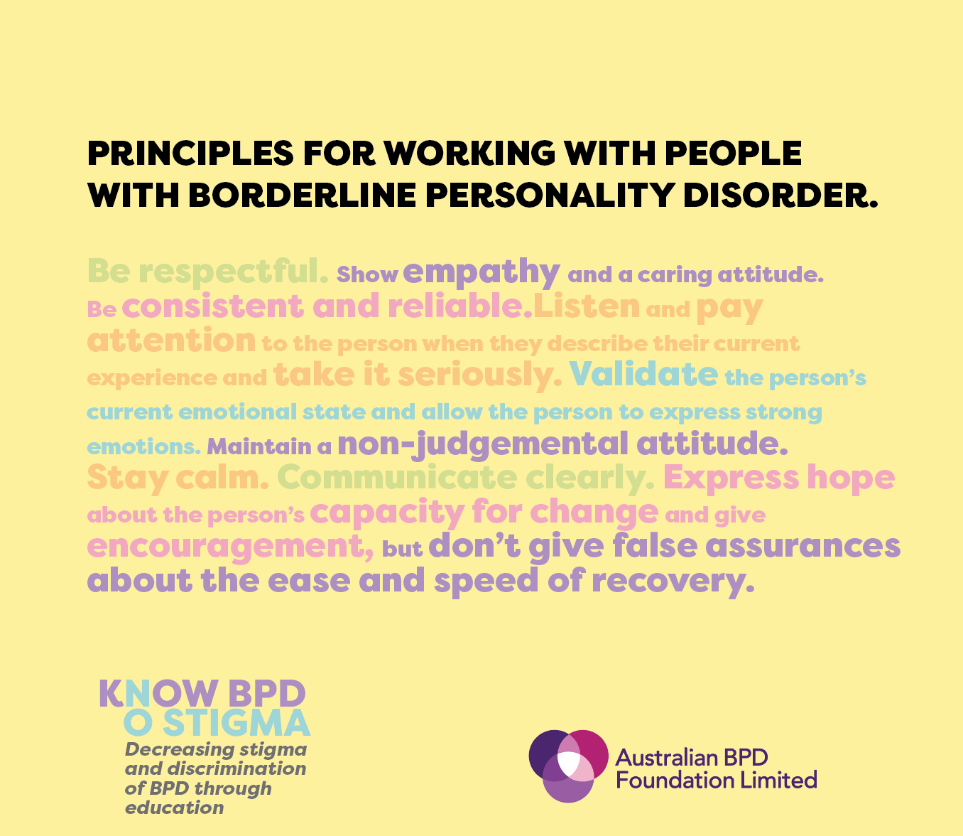 Working with People with BPD