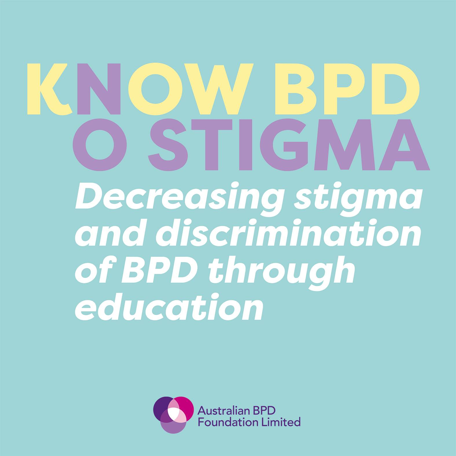 Know BPD No Stigma