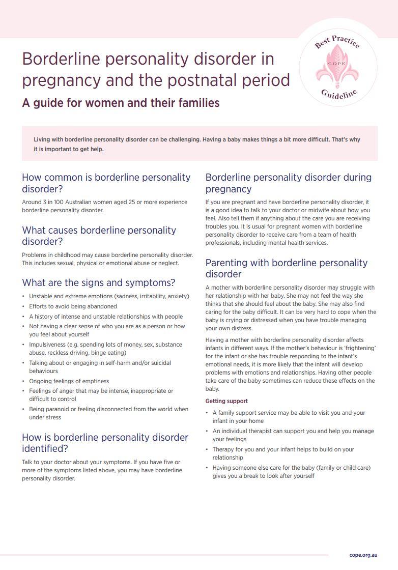 COPE BPD in Pregnancy