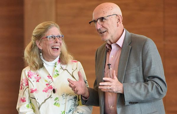 L-R: Jane Dutton and Bob Quinn