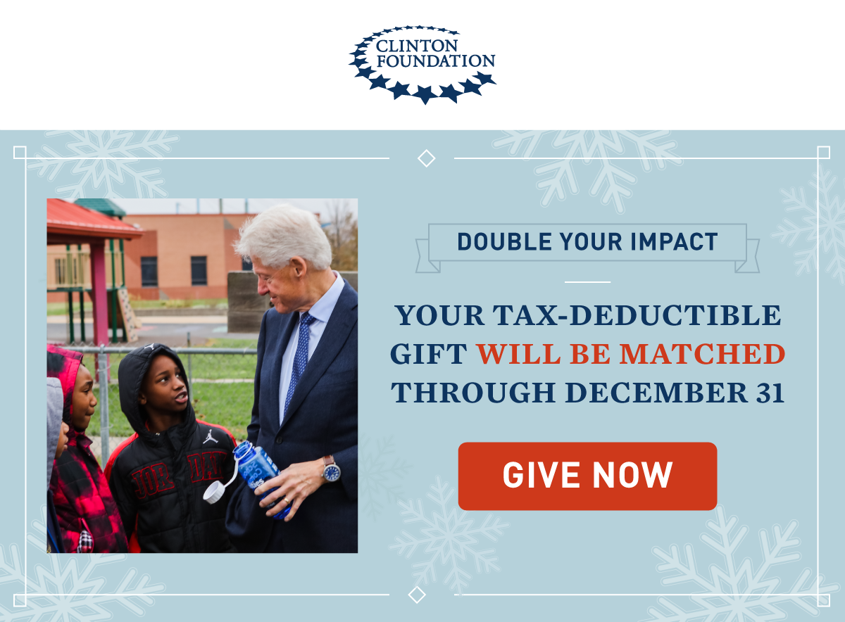 YOUR TAX-DEDUCTIBLE GIFT WILL BE MATCHED THROUGH DECEMBER 31