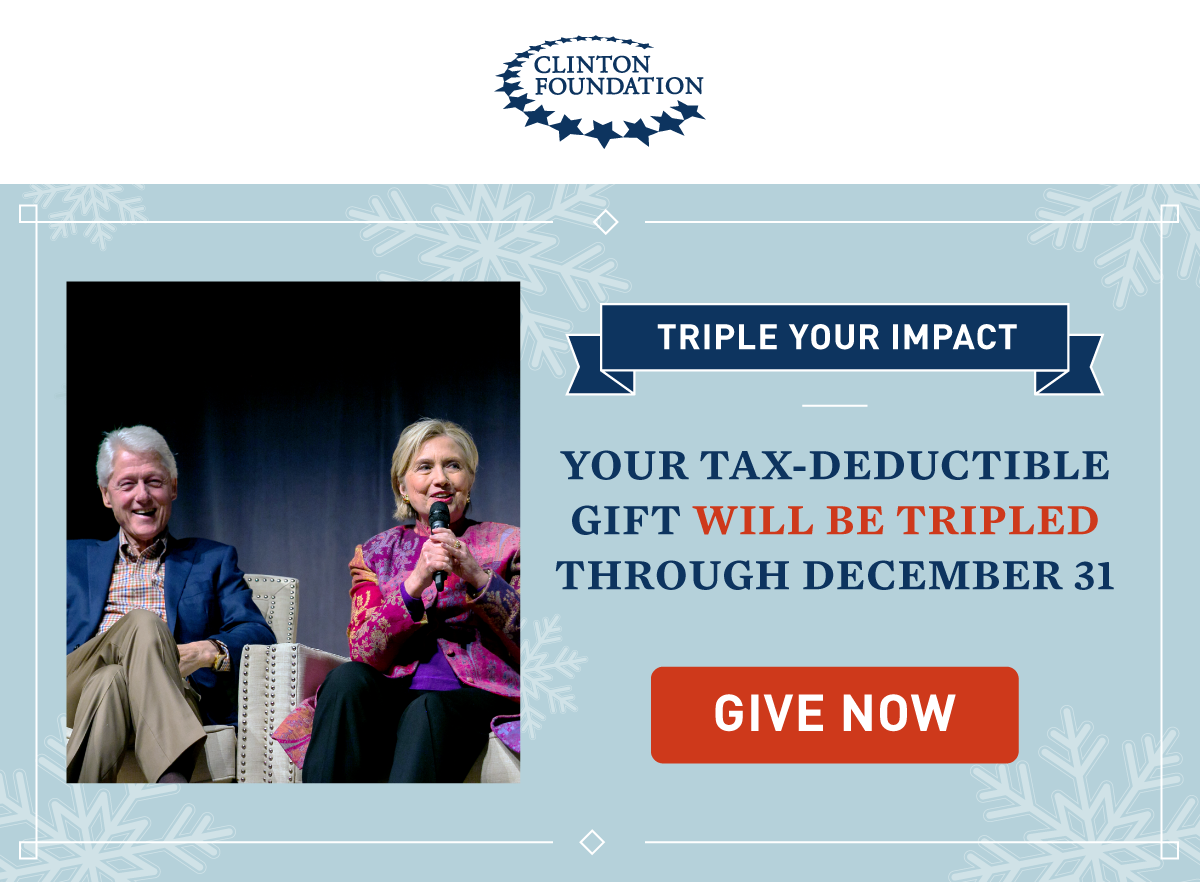 YOUR TAX-DEDUCTIBLE GIFT WILL BE TRIPLED