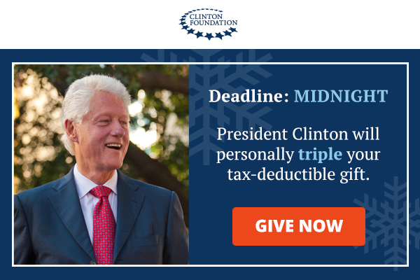 DEADLINEMIDNIGHT Your tax-Deuctible gift will be tripled through December 31.