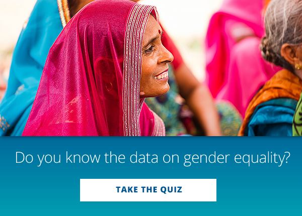 Do you know the data on gender equality?  TAKE THE QUIZ