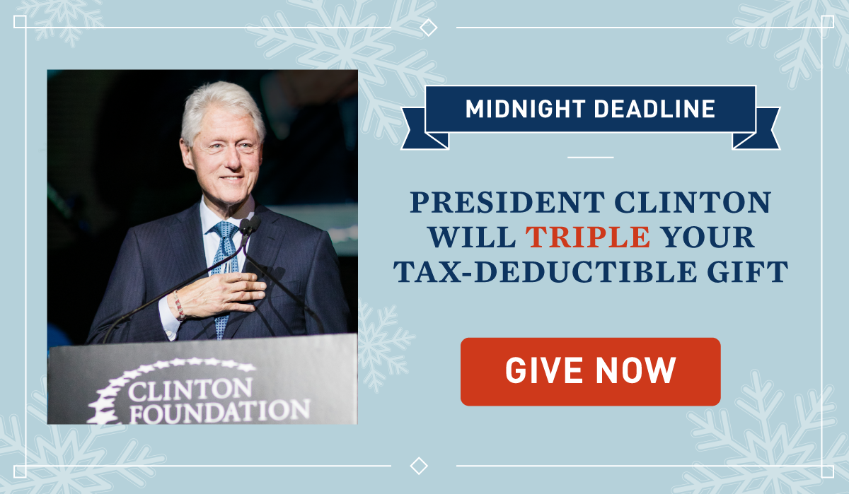 YOUR TAX-DEDUCTIBLE GIFT WILL BE TRIPLED THROUGH DECEMBER 31